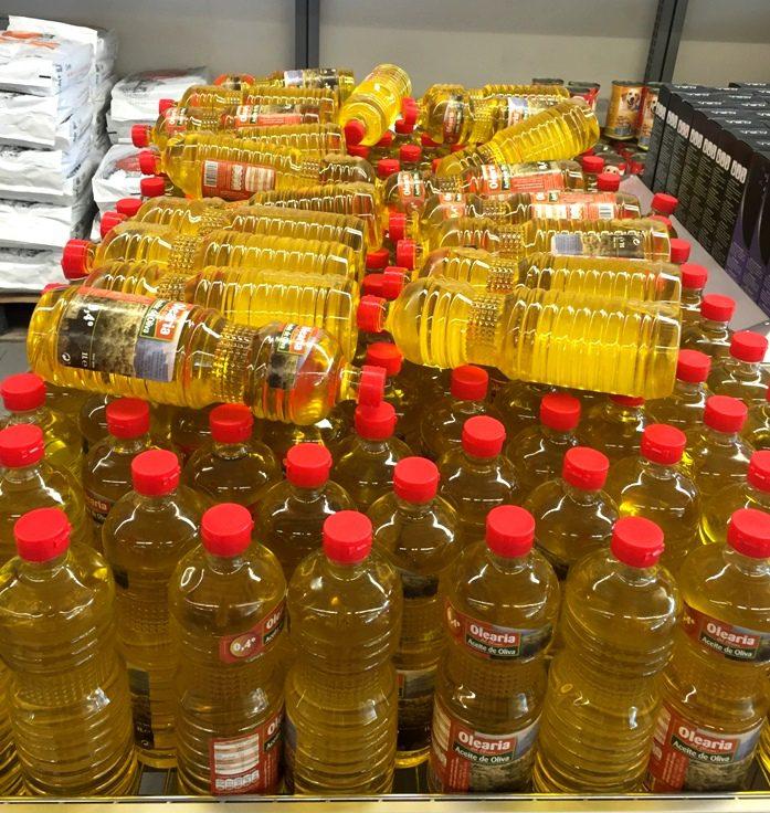 botellas aceite