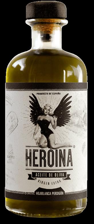 heroina-aceite-virgen-extra-perdigon-botella-diseño-web-garajegrafico-delante