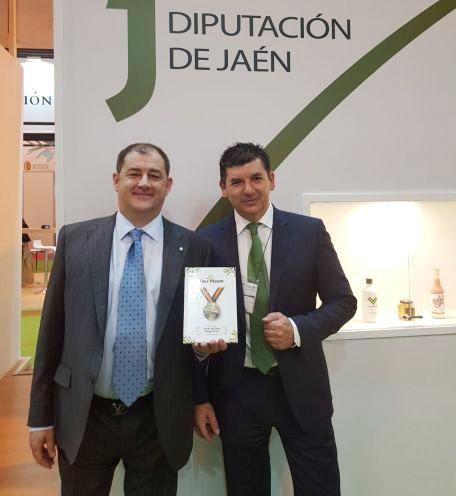 Giuseppe Parma en la entrega de premios de Iber Oleum